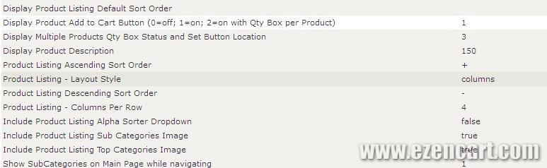 ZenCart分类页商品横排插件